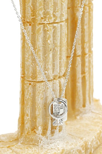 Ocean Fashion Sterling silver Square brand crystal ring necklace