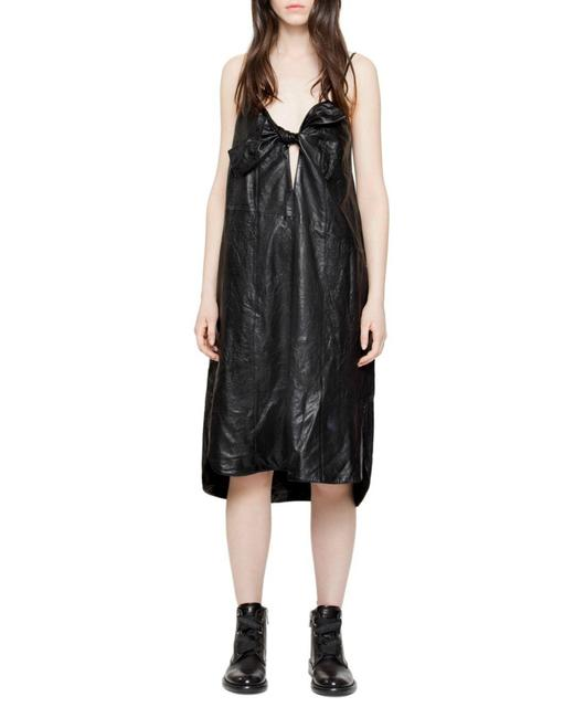 Preload https://img-static.tradesy.com/item/24555617/zadig-and-voltaire-black-women-s-ray-leather-new-s-mid-length-formal-dress-size-6-s-0-0-650-650.jpg