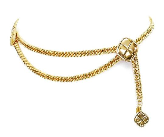 Chanel Vintage Chanel Double Chain Belt Gold Rare