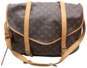 Louis Vuitton M42252 Saddle Odeon Samaur Samur Brown Messenger Bag