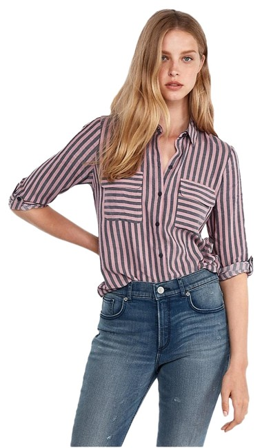 Preload https://img-static.tradesy.com/item/24555774/express-striped-city-shirt-by-blouse-size-2-xs-0-1-650-650.jpg