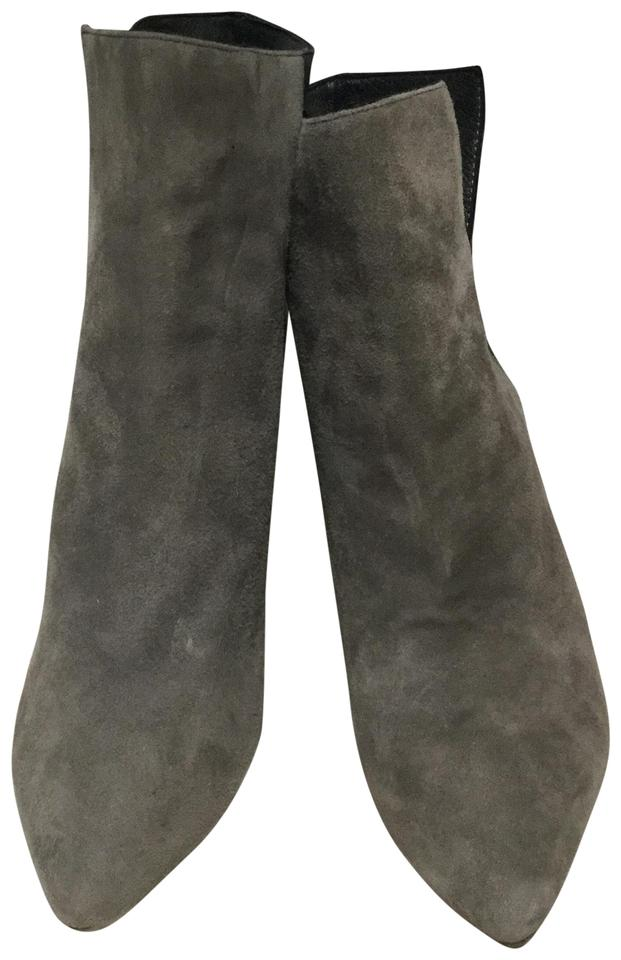 28ae4fe81801 Rebecca Minkoff Gray and Black Suede Wedge Boots Booties Size US 7 ...