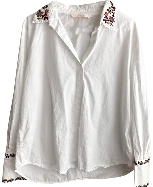 Preload https://img-static.tradesy.com/item/24555935/trafaluc-embroidered-button-up-blouse-size-8-m-0-1-650-650.jpg