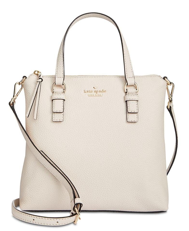 Kate Spade New York Jackson Street Hayley Small Bleach Bone Leather Cross  Body Bag b29cafa0a37e8