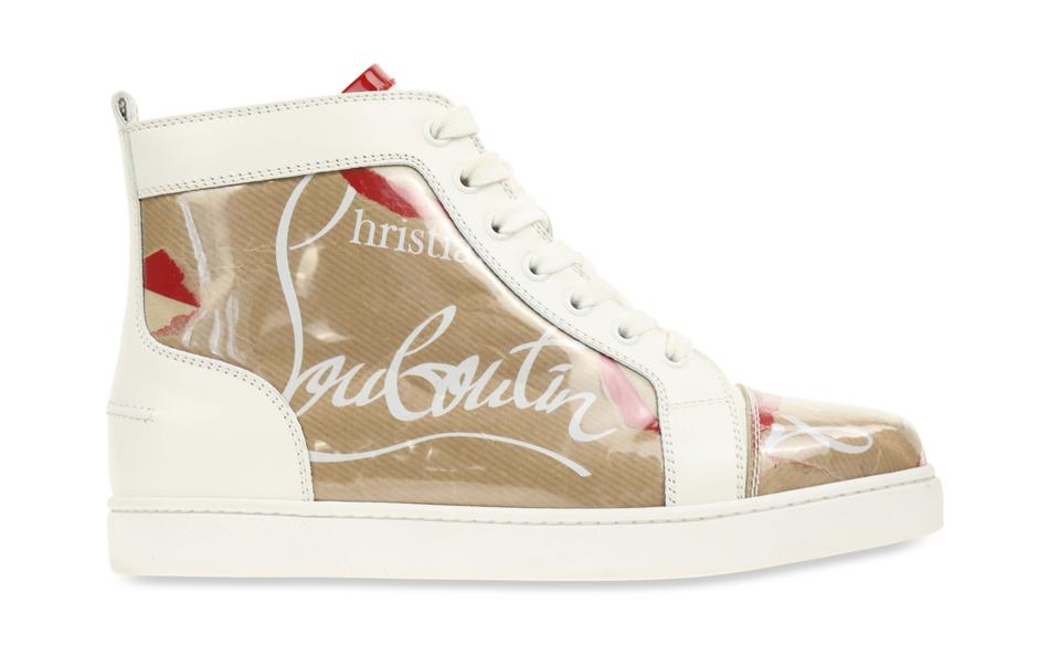 181a67709ac Christian Louboutin White Louis Women Flat Pvc/ Calf Leather Sneakers Size  EU 39.5 (Approx. US 9.5) Regular (M, B) 24% off retail