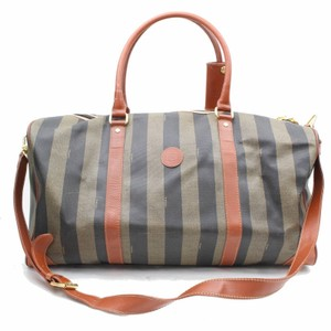 fd7f92a4a818 Added to Shopping Bag. Fendi Keepall Bandouliere Speedy Brown Travel Bag.  Fendi  ebay Sold  Tobacco Zucca Pequin Boston Duffle ...