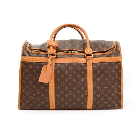 Preload https://img-static.tradesy.com/item/24556474/louis-vuitton-vintage-sac-chaussures-50-poches-monogram-trunk-brown-coated-canvas-weekendtravel-bag-0-0-540-540.jpg
