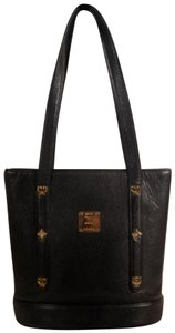 MCM Petite Backet Bolwer Shopper Tote in Black