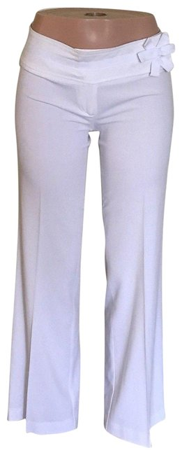 Item - White Cotton Blend Extended Waist Band Women Pants Size 8 (M, 29, 30)