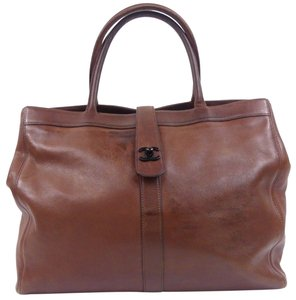 Chanel Cerf Executive Tote In Brown