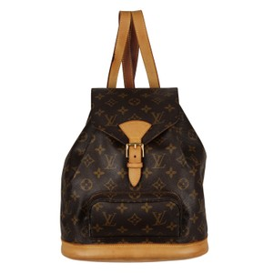 Louis Vuitton Montsouris Mm Monogram Leather Weekend Travel Bags Backpack