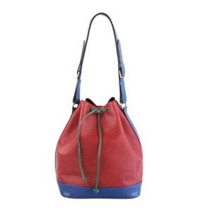 Louis Vuitton Neo Noe Hobo Leather Gucci Prada Tote in Blue/red/green