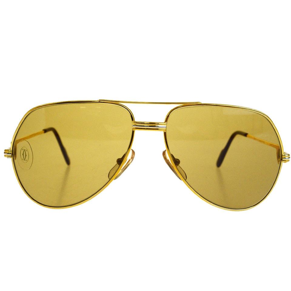 8f9c26932c2 Cartier Must de Cartier Vendome Trinity Glasses Eye Wear Metal Gold Light  Image 9. 12345678910