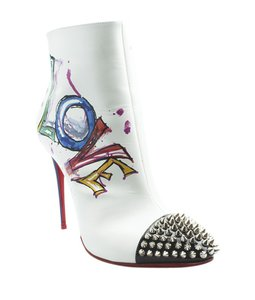 Christian Louboutin Ankle Leather Silver-tone Dustbag Multi-Color Athletic