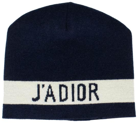 Preload https://img-static.tradesy.com/item/24557360/dior-marine-blue-ja-dior-and-white-knit-hat-0-1-540-540.jpg