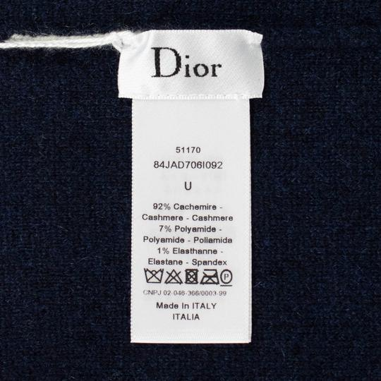 Dior 'JA'DIOR' Marine Blue And White Knit Hat Image 2