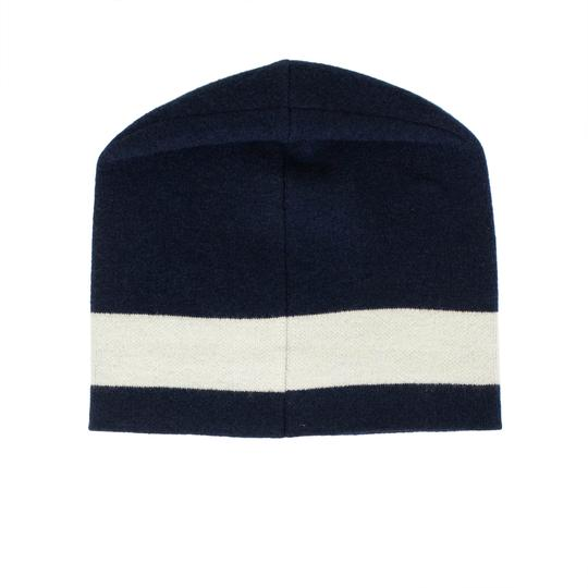 Dior 'JA'DIOR' Marine Blue And White Knit Hat Image 3