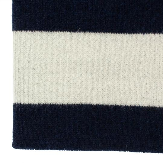 Dior 'JA'DIOR' Marine Blue And White Knit Hat Image 4