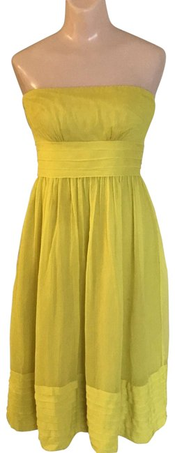 Item - Yellow Silk Chiffon Mid-length Formal Dress Size 2 (XS)