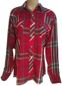 Wrangler Button Down Shirt Red