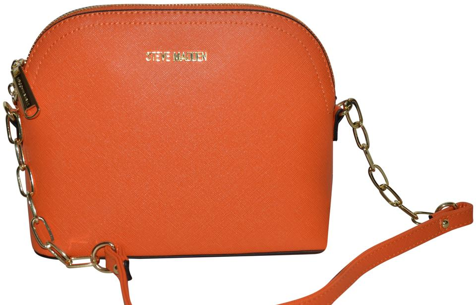9643fa6d45 Steve Madden Bmarilyn Two Tone Purse Pink Orange Gold Faux Leather ...