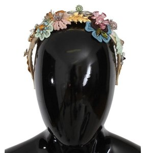 Dolce&Gabbana D162 Women's Multicolor Floral Crystal Gold Headband (One Size)