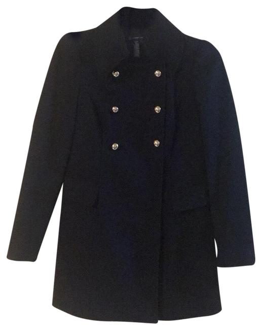 Item - Black Double Breasted Coat Size 8 (M)