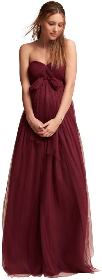 3b9ce38b78 Jenny Yoo Jenny Yoo Serafina Maternity Dress in Black Cherry Image 0 ...