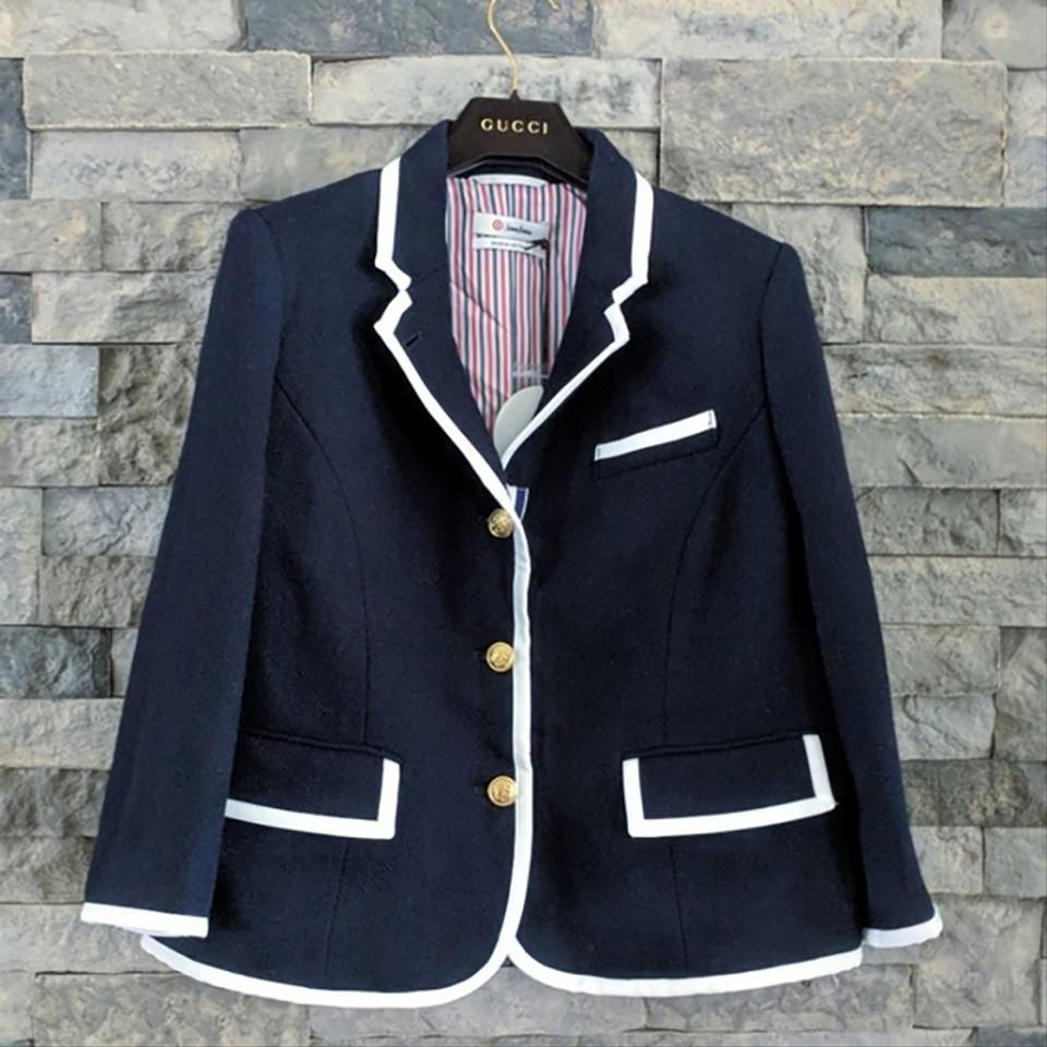 2af7450e3fb9a Thom Browne Blue For Target Nautical Blazer Jacket Size 16 (XL