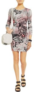 Jonathan Saunders short dress Pink Floral Flowers Jersey Floral Bodycon on Tradesy