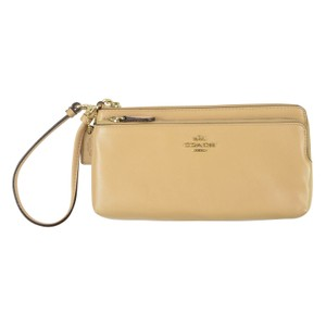Coach Full Length Large Double Zip Wallet Nude 52636