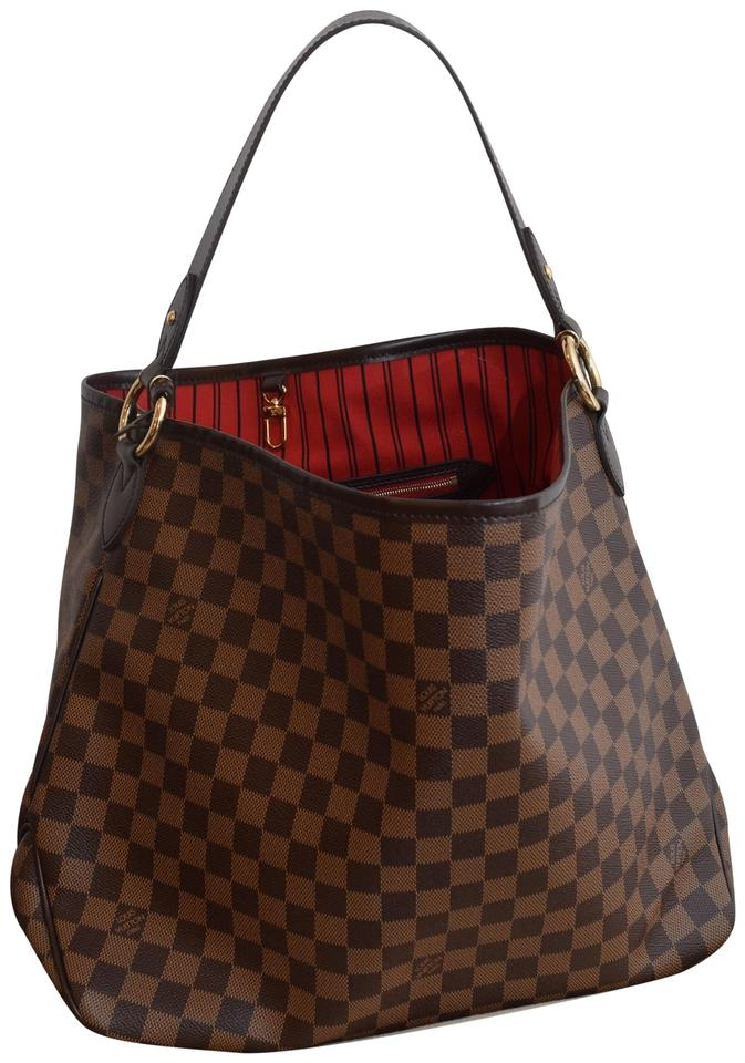 ecf86abd147 Louis Vuitton Delightful Mm Lv Delightful Mm Canvas Tote in Damier Ebene  with Cherry lining Image ...