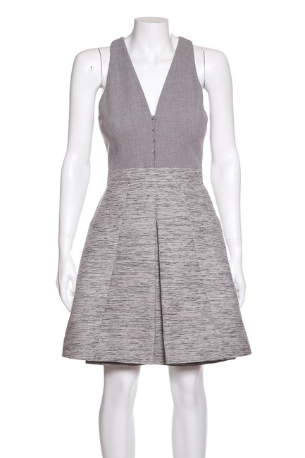 Item - Grey Woven Short Casual Dress Size 4 (S)
