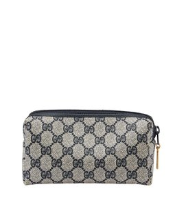 Gucci Gucci Vintage GG Blue & Cream Coated Canvas Makeup Pouch (40134)