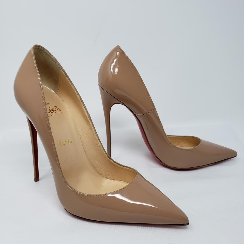 c784459fcb4c Christian Louboutin Beige Nude Patent Leather So Kate 120 Pumps Size ...