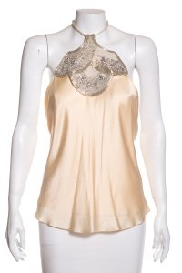 The Row Ivory Halter Top