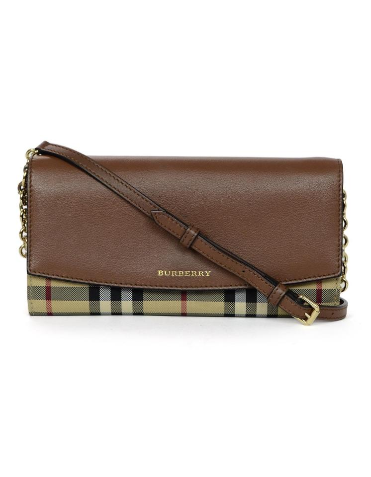 Burberry Canvas Tartan Plaid Henley Horseferry Check Wallet On Chain ... a5f509d2ab0f9
