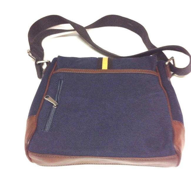 Item - Long Live Vintage 1954 Two Tone Black and Brown Leather Messenger Bag