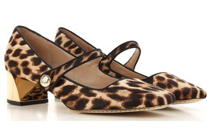 Tory Burch Mary Jane Animal Print Leopard black Pumps