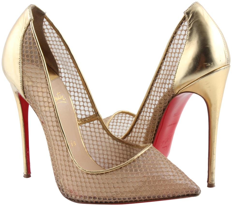 the latest b409c e8b93 Christian Louboutin Neutral Follies Resille 120 Fishnet Pumps Size US 8  Regular (M, B) 36% off retail