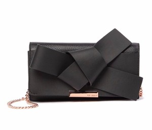 76a15e3811532 Ted Baker Lyle Large Knot Bow Card Slots Leather Shoulder Bag