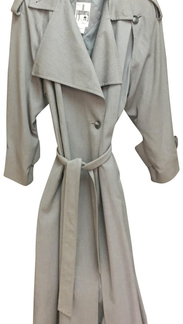 Item - Gray Gallery Long Belted Jacket Coat Size 12 (L)