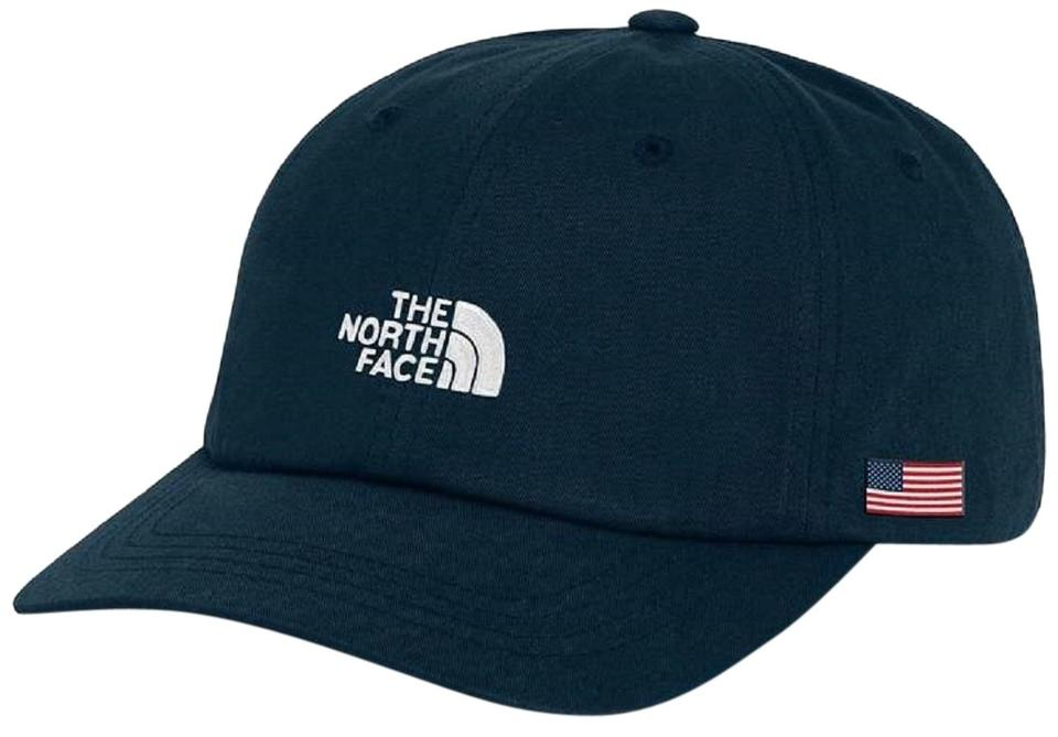 The North Face International Collection Ball Cap Hat Blue Cap Flag Legacy  ... 0b31b7dc396