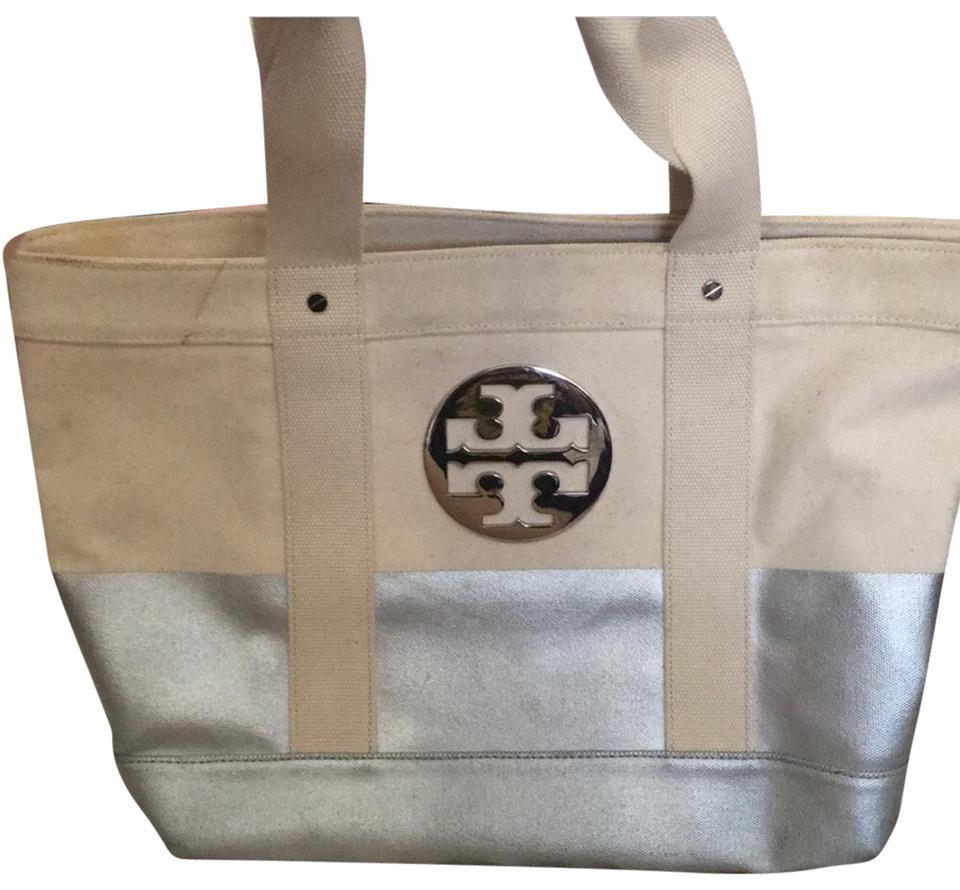 bb7cb327653 Tory Burch Canvas Tote - Tradesy