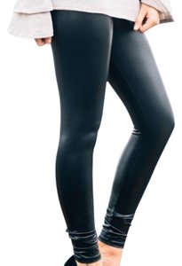 Silence + Noise Liquid Vegan Faux Leather Urban Outfitters Black Leggings