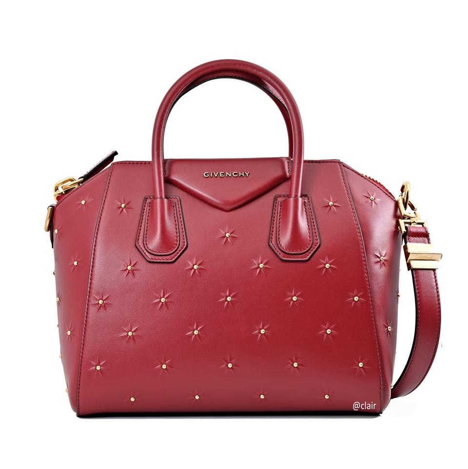 edf8d708d192 Givenchy Antigona Midnight Stars Small Dark Red Leather Satchel ...