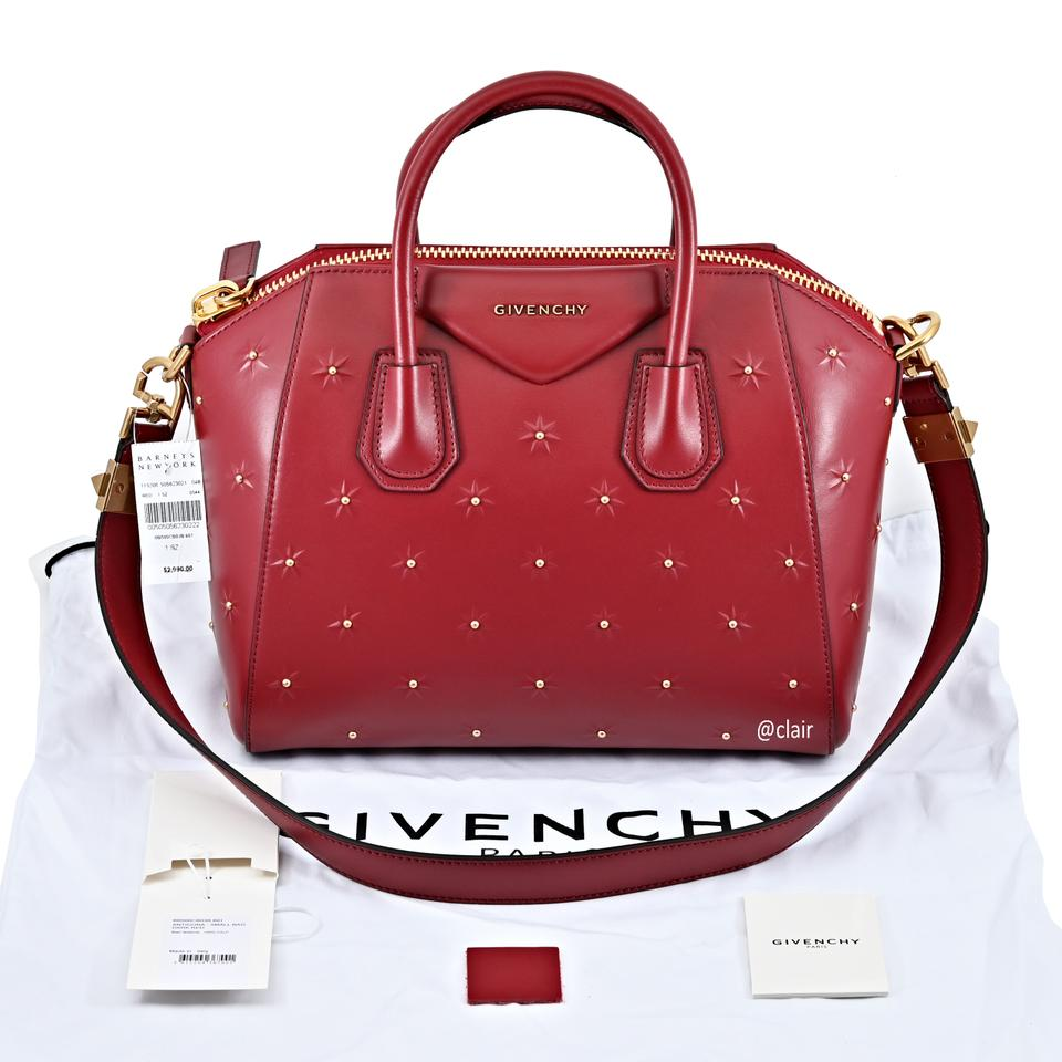 8375179da384 Givenchy Antigona Midnight Stars Small Dark Red Leather Satchel - Tradesy