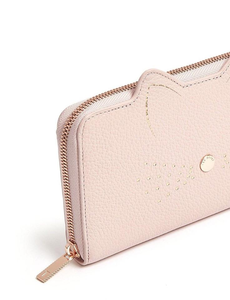 3a958b763477af Ted Baker Ted Baker London Cat Serini Leather Matinee Wallet Image 7.  12345678