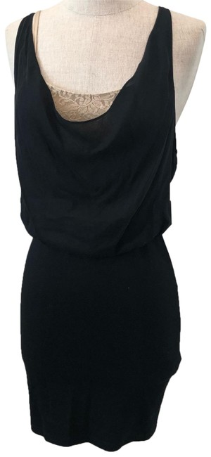 Item - Black Two Toned & Beige Mid-length Night Out Dress Size 2 (XS)