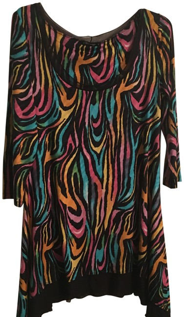 Item - Multicolor Trudy Mid-length Short Casual Dress Size 10 (M)